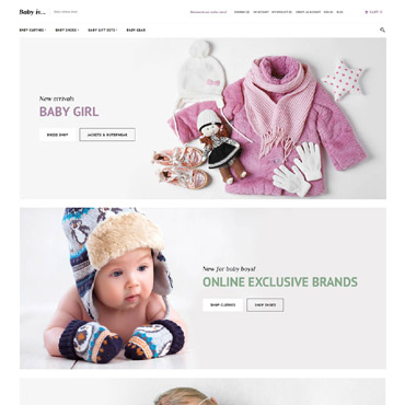 Family style, e-commerce Magento template