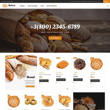 E-commerce, Food Magento template