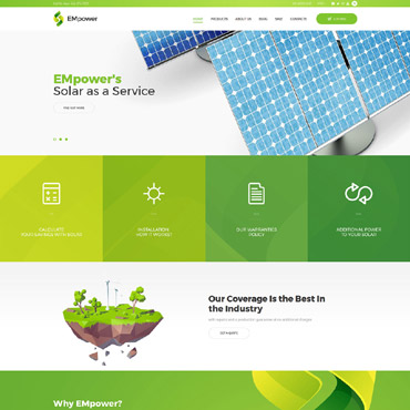 Alternative energy, e-commerce Shopify template