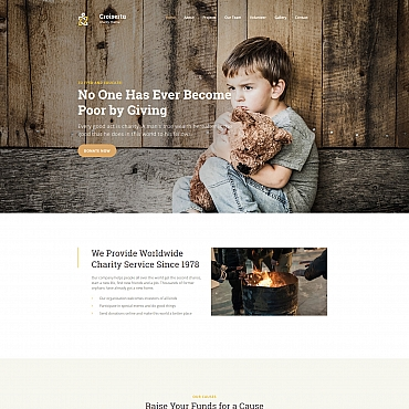 Charity organization Moto CMS 3 template