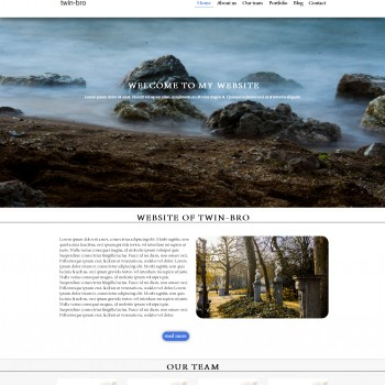 Blog, travelling Adobe Muse template