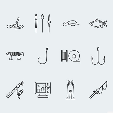 Sport, Hobby-related websites Icons set