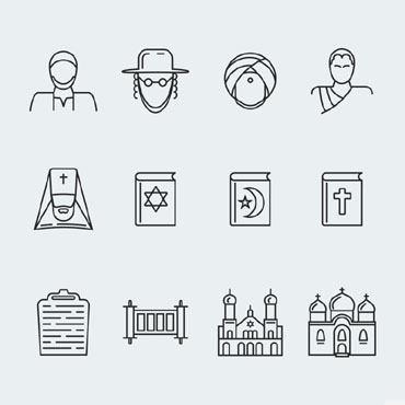 Charity organization Icons set