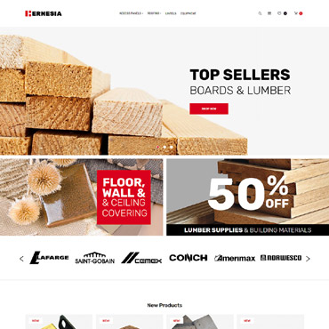 Industrial, e-commerce Magento template