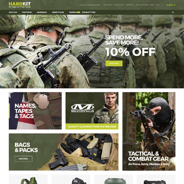 Military, e-commerce Magento template