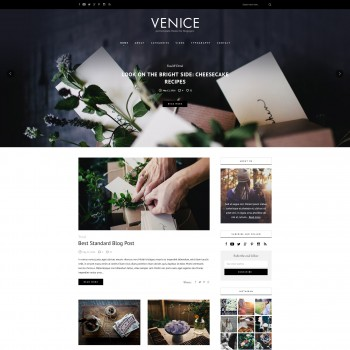 Blog, Art Industrial WordPress template