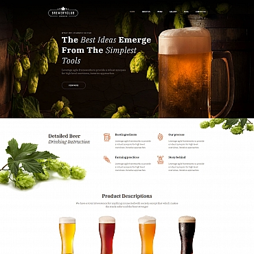 Beer Moto CMS 3 template