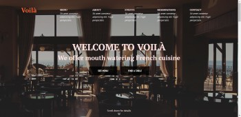 resonsive HTML-template of restaurant`s website