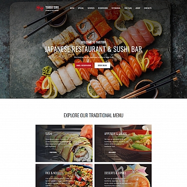 Catering Moto CMS 3 template