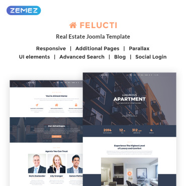 Real estate company, appraiser or mortgage institution Joomla template