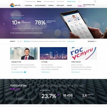 PSD template, site layout for corporate site