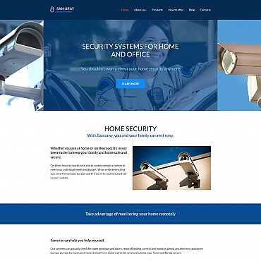 Security Moto CMS 3 template