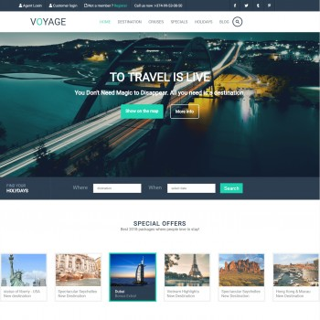 An adaptive langing page for a travel company
