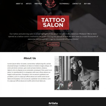 Tatto Studio Wordpress Theme