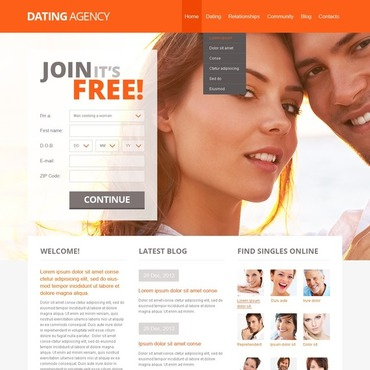 Dating website HTML template