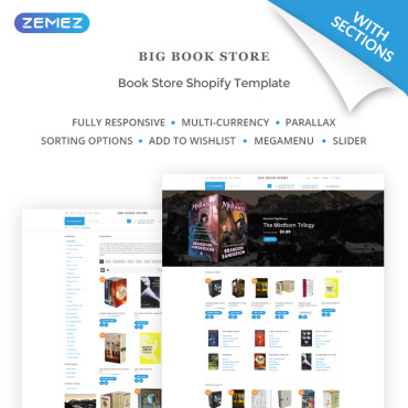 Scientific, e-commerce Shopify template