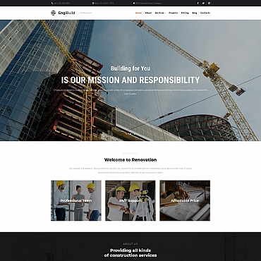 Architecture Moto CMS 3 template