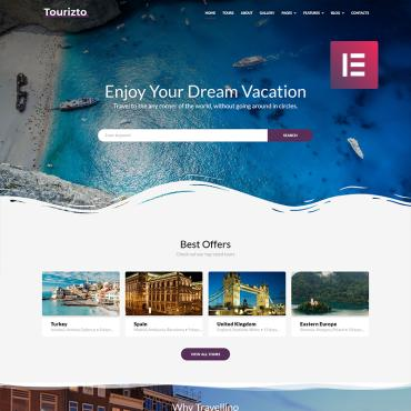 Travelling WordPress template