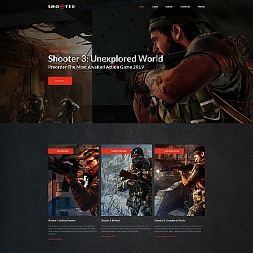 Gaming Moto CMS 3 template