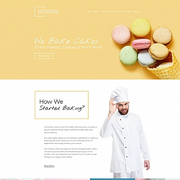 Food Moto CMS 3 template