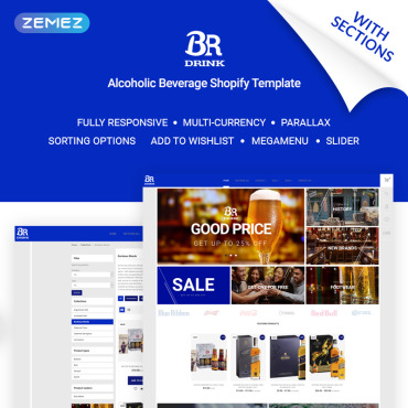 Catering, e-commerce Shopify template