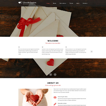 St. valentine's day HTML template