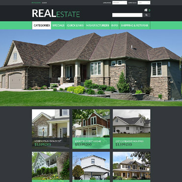 Real estate company, appraiser or mortgage institution, e-commerce ZenCart template