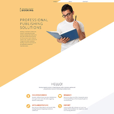 Literature Joomla template