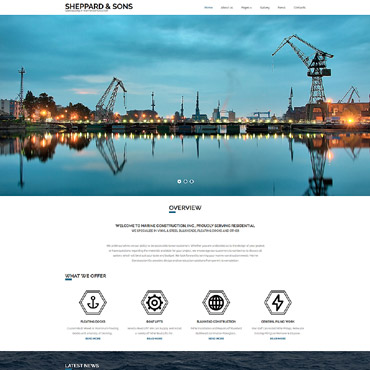 Transportation company Joomla template