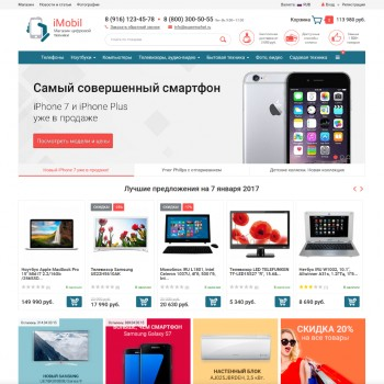 Web design, The area of Internet Shop-Script template