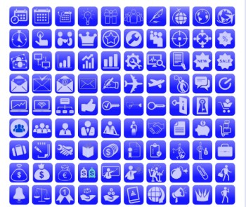 Business, Computer industry Icons set
