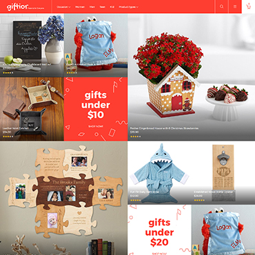 Gift shop, e-commerce Magento template