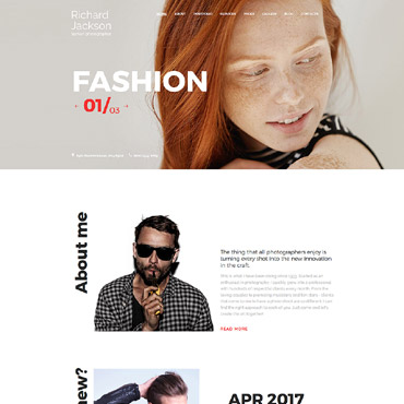 Photography website Joomla template