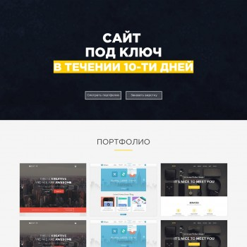 The area of Internet, Landing page HTML template