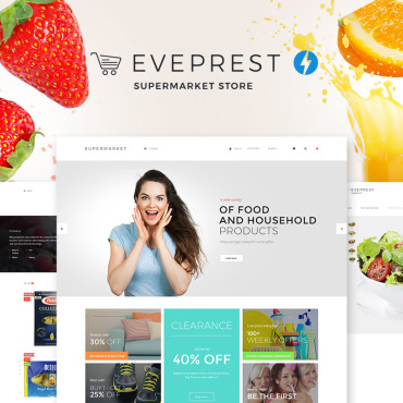 Food, e-commerce PrestaShop template