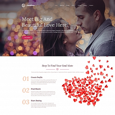Dating website Moto CMS 3 template