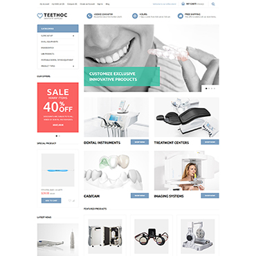 Medical, e-commerce Magento template
