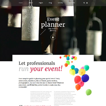 Entertainment websites Joomla template
