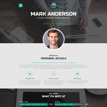 Web design Joomla template