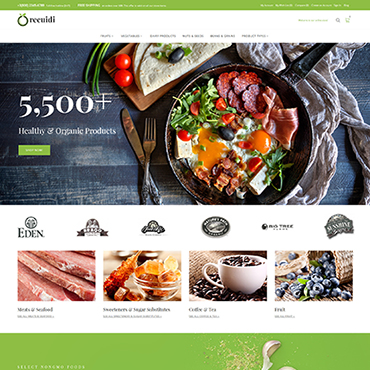 Food, e-commerce Magento template