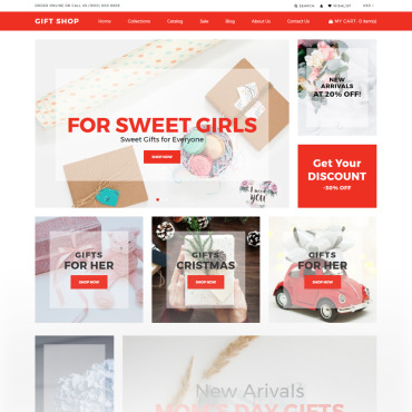 St. valentine's day, e-commerce Shopify template