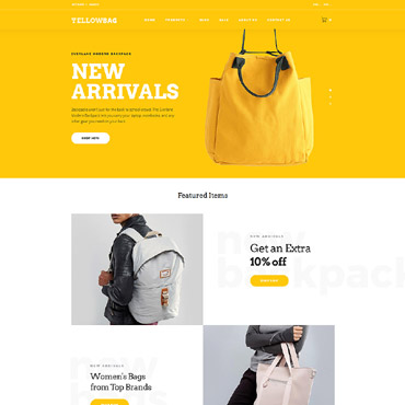 Fashion store, e-commerce OpenCart template