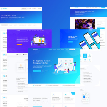 Communications company WordPress template