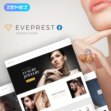 Online jewelry store, e-commerce PrestaShop template