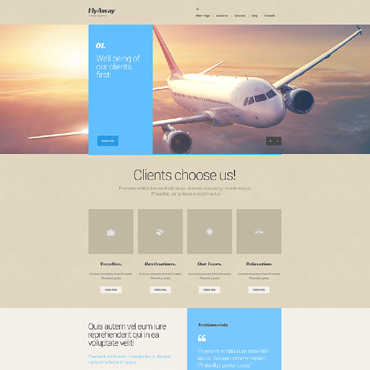 Transportation company Drupal template
