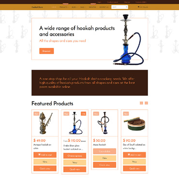 Tobacco industry, e-commerce Shopify template