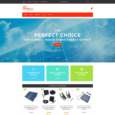 Alternative energy, e-commerce WooCommerce template