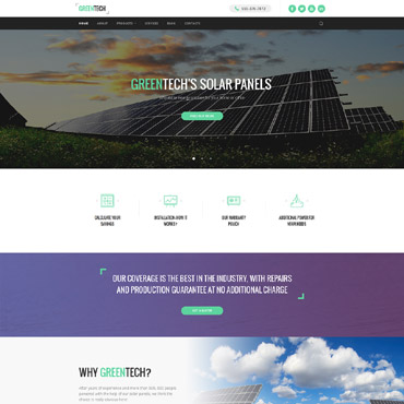 Alternative energy HTML template