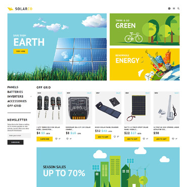 Alternative energy, e-commerce PrestaShop template