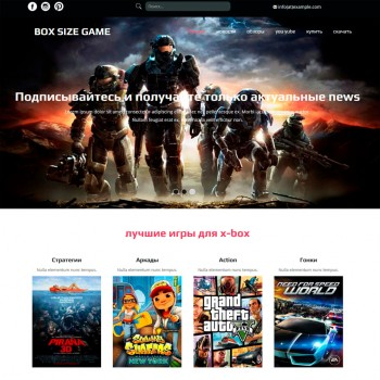 Blog, Gaming HTML template